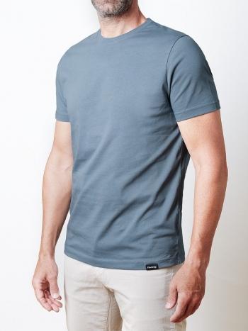 Camiseta Básica Azul Denim