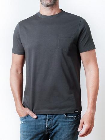 Camiseta con Bolsillo Antracita