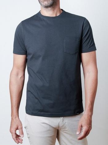 Camiseta con Bolsillo Azul Marino