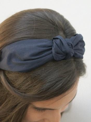 Diadema Navy Knot