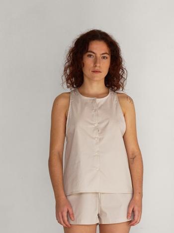Camisa Tirantes Beige / Habits