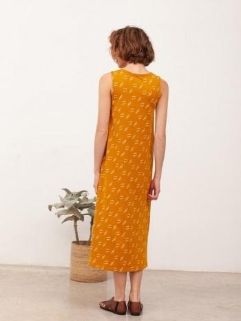 Vestido Maxi Berta Mostaza