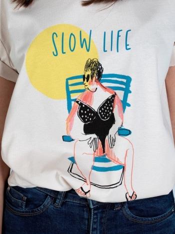 Camiseta Slow Life Mujer