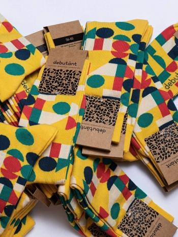 Calcetines Retro Yellow Sock